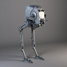 Star Wars AT-ST rigged for Maya 3D Model
