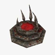 Blood fountain 3D Model