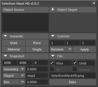 Selection Mask HD 1.0.3 for Maya (maya script)