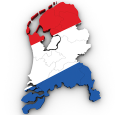 Map of the Netherlands 3D Model