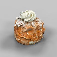 Chocolate Flakes Cake 3D Model