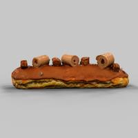 Eclair Chocolate 3D Model