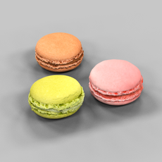 3 Macarons 3D Model