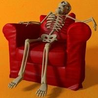Cartoon Skeleton Rigged 3D Model