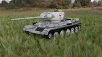 T-34/85 Tank HDRI winter camo 3D Model