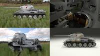 T-34/85 Interior/Engine Bay Full HDRI Winter Camo 3D Model