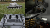 T-34-85 with Interior HDRI Winter Camo 3D Model