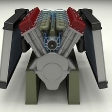 T-34 Engine and Transmission Full 3D Model