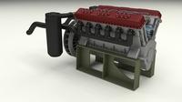 T-34 Engine 3D Model