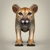 16 41 12 870 realistic low poly baby lion 02 4