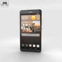 Huawei Ascend Mate 2 4G Crystal Black 3D Model