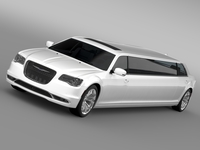Chrysler 300C Platinum Limousine LX2 2016 3D Model