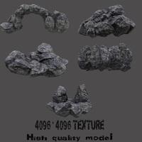 Rocks_Set 3D Model