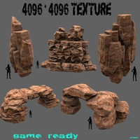 mountain set 3D Model