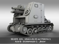 Sturmpanzer 1 - Bison 3D Model