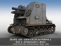 Sturmpanzer1 - Bison - Cambrai- 2.PzDiv 3D Model