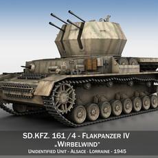 SD.KFZ 161_4 - Flakpanzer IV - Wirbelwind 3D Model