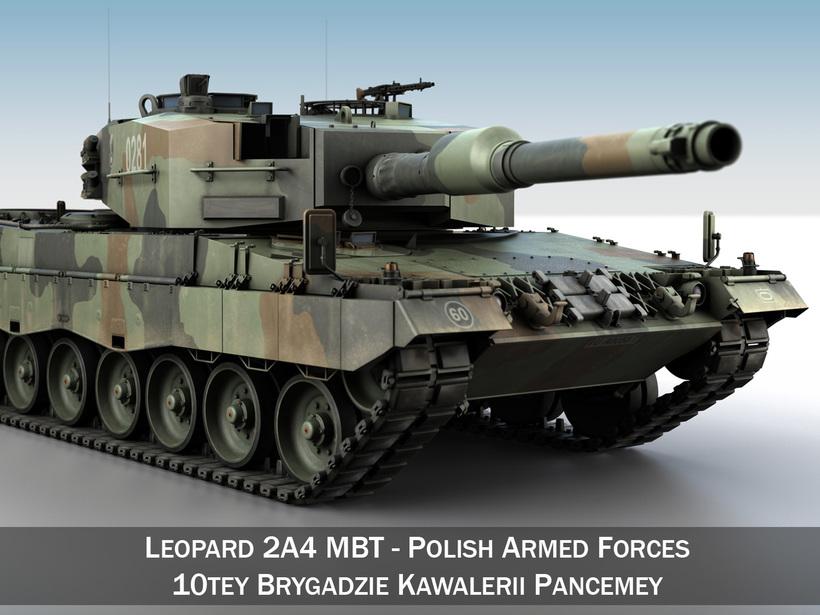 Leopard 2A4 MBT - Polish Armed Forces 3D Model