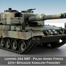 Leopard 2A4 MBT - Polish Armed Forces 3D Model