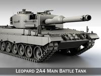 Leopard 2A4 MBT 3D Model