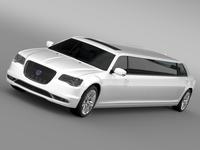 Lancia Thema Limousine 2016 3D Model