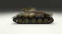 T-34/76 Interior/Engine Bay Camo Full 3D Model