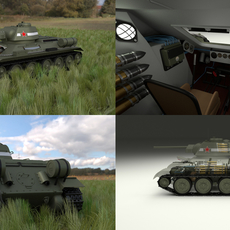 T-34/76 Interior/Engine Bay Full HDRI 3D Model