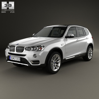BMW X3 (F25) 2014 3D Model