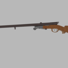 Antique Shotgun Rifle 3D Model