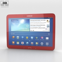 Samsung Galaxy Tab 3 10.1-inch Garnet Red 3D Model