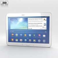 Samsung Galaxy Tab 3 10.1-inch White 3D Model
