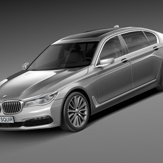 BMW 7-series G12 long 2016 3D Model