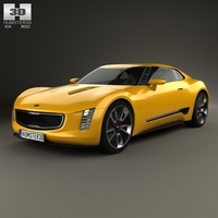 Kia GT4 Stinger 2014 3D Model