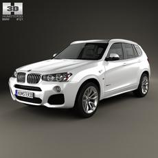 BMW X3 M Sport Package (F25) 2014 3D Model