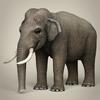 17 07 10 165 low poly realistic elephant 01 4