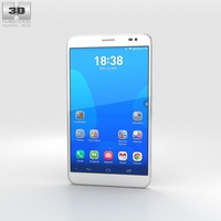 Huawei MediaPad X1 Snow White 3D Model