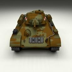 T34/76 Tank Camo HDRI 3D Model