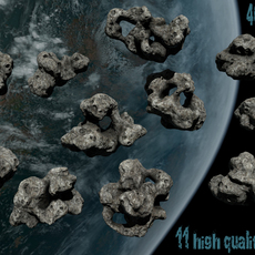Asteroid_Set 3D Model