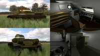 T34/76 Tank with Interior HDRI Camo 3D Model