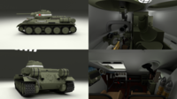 T34/76 Tank with Interior 3D Model