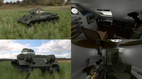 T34/76 Tank with Interior HDRI 3D Model