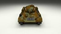 T34/76 Tank Camo 3D Model