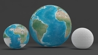 Earth globe puzzle 3D Model