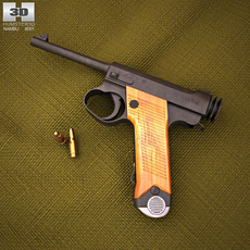 Nambu Type 14 3D Model