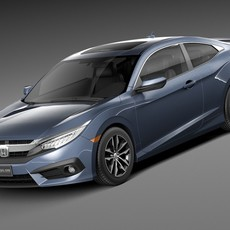 Honda Civic Coupe LED 2017 3D Model