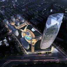 commercial Plaza 002 3D Model