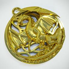 Dragon pendant (printable) 3D Model