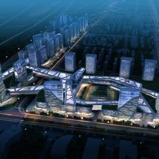 commercial Plaza 006 3D Model