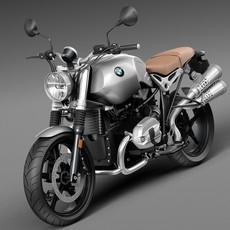 BMW R Nine T Scrambler 2016 3D Model