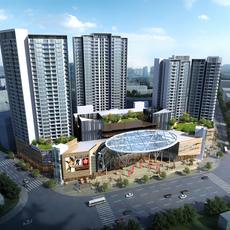 commercial Plaza 010 3D Model
